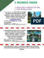 Excursiones a Realizar a Finales de Año Por Tour Mundo Maya Dg 2015