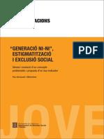 Generació NI-NI_Estigmatització i Exclusió Social
