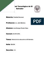 Educacion en El Salvador