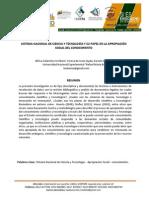 SISTEMA DE INFORMACION Y LA APROPIACIÓN SOCIAL DEL CONOCIMIENTO