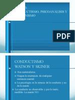 Tema 3. Conductismo Psicoanalisis Humanismo