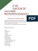 Trabajo de Investigacion de Sistemas Microprocesados i