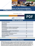 Commendations and Recommendations Report November 2015