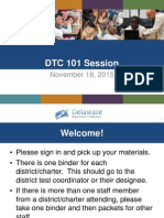 DTC 101 Face to Face Session Nov 18