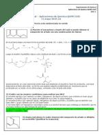 Examen Final Química Orgánica 2015-1-2 Soluciones