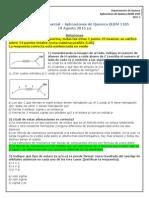 Primer Parcial Química Orgánica 2015-2-2 Soluciones