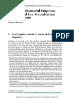 ICJ and Macedonian Name Dispute