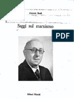 Antonio Banfi, Saggi sul marxismo