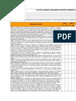 Lista de Chequeo Cumplimiento Decreto Supremo n 594