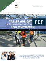 Brochure Taller de Productividad MAYO 2015