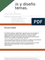 Análisis y Diseño de Sistemas Trabajo