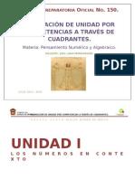 Planeación Por Unidad Pensamiento Numérico y Algebraico Cilco 2013-2014