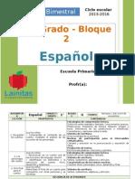 Plan 1er Grado - Bloque 2 Español