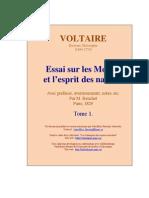 Voltaire Essai Sur Les Moeurs t1
