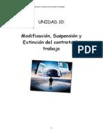 Tema 10 Modificación. Suspensión y Extinción Del Contrato de Trabajo - Copia