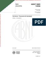 NBR15938 - Travessia de Tubulação Em Linha Ferrea