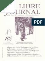 Libre Journal de la France Courtoise N°108
