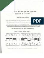 Cattel 3 Cuadernillo
