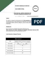 Resultados Oficiales Elecciones CENTRO FEDERADO EE.GG.CC 2016
