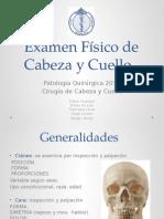 Examen fisico cabeza y cuello