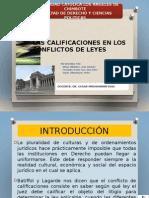Calificacion en Los Conflictos de Leyes