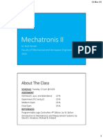 Mechatronics II Part 1 - Introduction