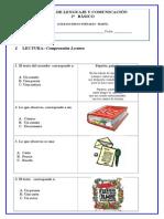 2º Básico prueba lenguaje y comunicacion