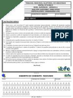 Ibfc 2014 Tre Am Analista Judiciario Engenharia Civil Prova