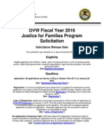Justice for Families Program Solicitation OVW Fiscal Year 2016