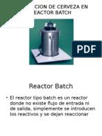 Produccion de Cerveza en Reactor Batch