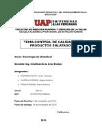 CONTROL DE CALIDAD DE PRODUCTOS ENLATADOS