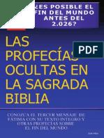 Profecías Ocultas en La Sagrada Biblia