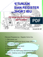 Petunjuk Pengisian Register Kohort Ibu