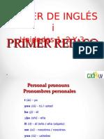 1 Er. Repaso Ingles 1