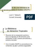 Myslide.es El Desarrollo de Una Biblioteca de Alimentos Para El Modelo Cncps Luis o Tedeschi Cornell University