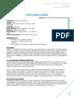 fact sheet japan