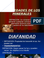 Propiedades de Los Minerales