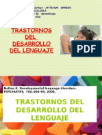 Trastornos del desarrollo del lenguaje.