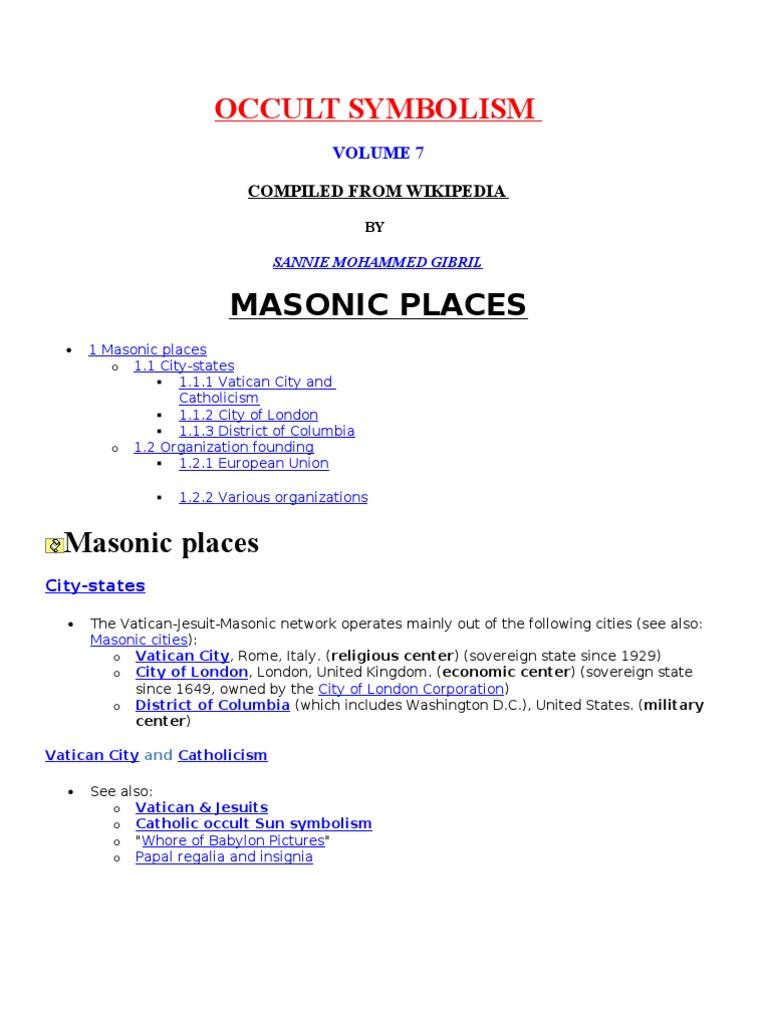Occult Symbolism v7 | Freemasonry | Pope