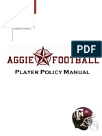 2009 Football Player Policy Manual