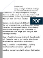 Integra Gold Rush Challenge