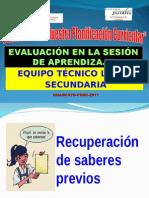 Evaluacion en La Sesion de Aprendizaje