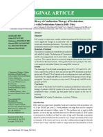 Comparison of the Efficacy of Combination Therapy of Prednisolone - Acyclovir With Prednisolone Alone in Bell's Palsy(1)