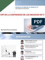 ERP en La Continuidad de Negocio en TIC