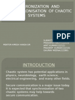 Presentation of Project,synchronisation and antisynchronisation of chaotic systems
