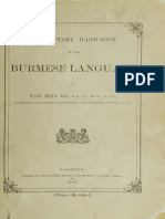 Elementary Hand Book of the Burmese Language