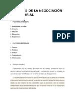 Factores de La Negociación Empresarial