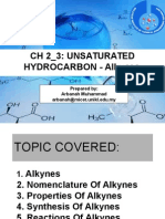 Ch2 Hydrocarbon Alkyne