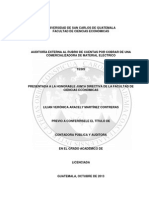 AUDITORÍA EXTERNA AL RUBRO DE CUENTAS POR COBRAR DE UNA COMERCIALIZADORA DE MATERIAL ELÉCTRICO