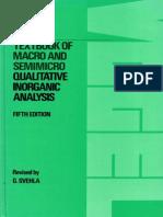 Vogel s Textbook of Macro and SemiMicro Qualitative Inorganic Analysis 5th Ed - G.svehla